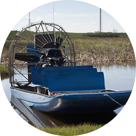 Airboat Spraying