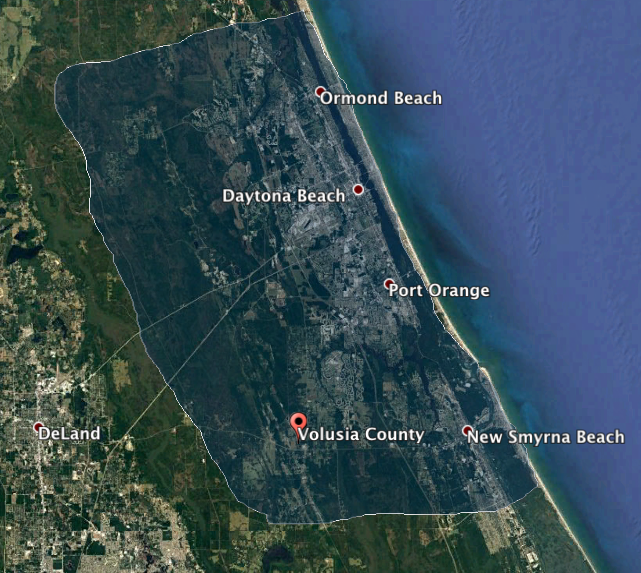 Daytona pond cleaning service area map